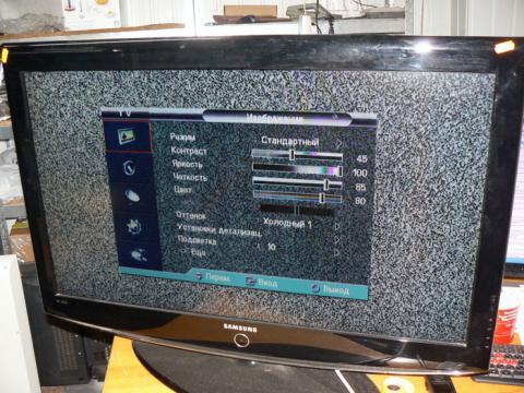 диагностика ТВ Samsung LE37R82B