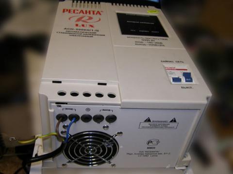 ремонт стабилизатора релейного типа Ресанта АСН-5000Н/1-Ц