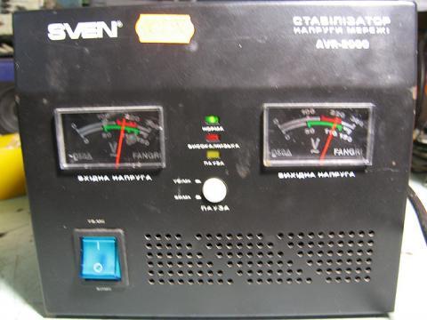ремонт стабилизатора напряжения Sven AVR-2000